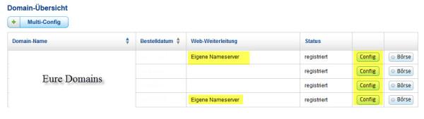 Domain-Übersicht von United Domains