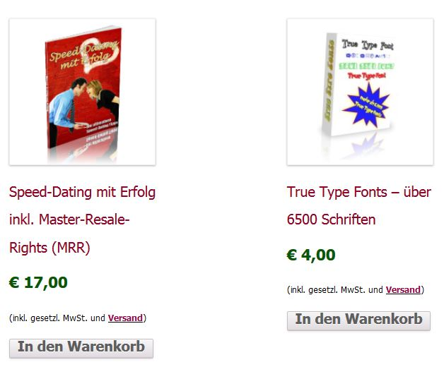 WooCommerce Shop Katalogansicht