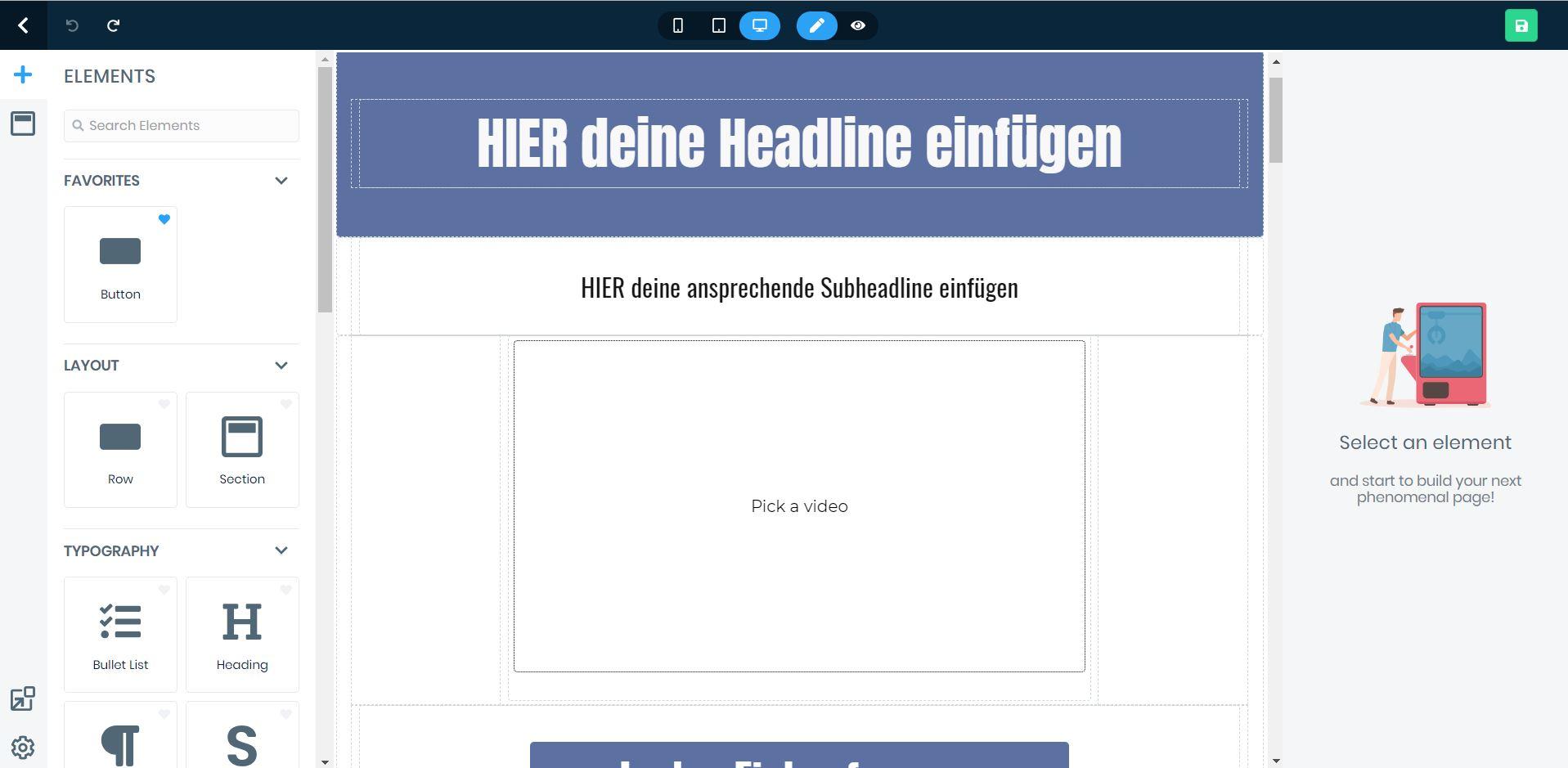 page-builder von ez page von said shiripour
