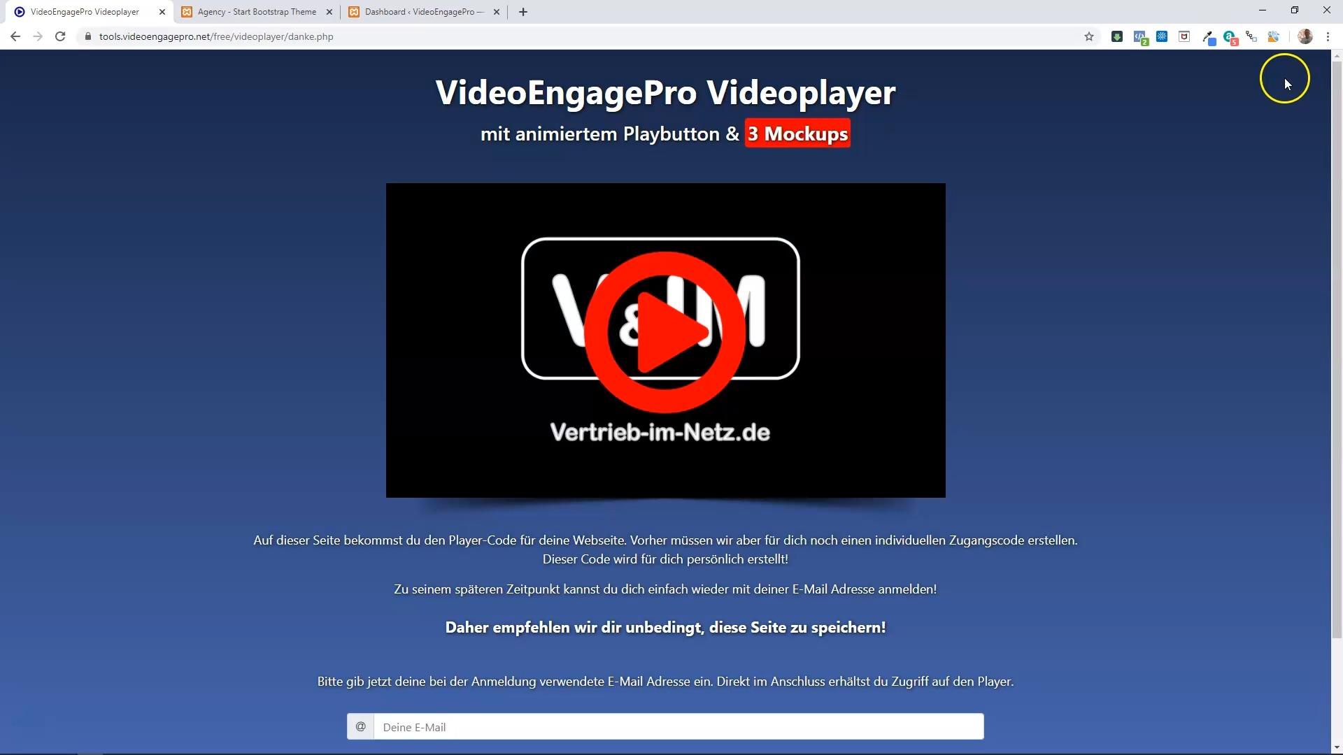 VideoEngage - kostenloser Profi-Videoplayer